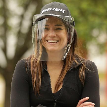 Bauer Integrated Cap Face Shield,,moyen