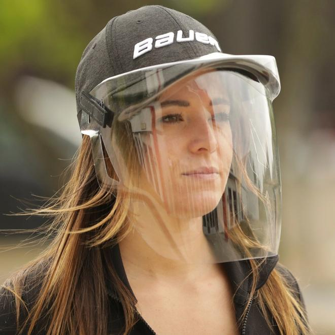 Bauer Integrated Cap Face Shield