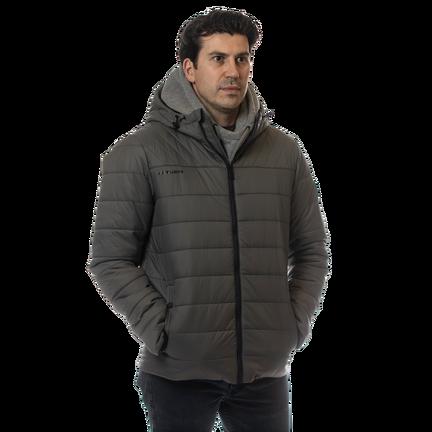 SUPREME Hooded Puffer Jacket,Grå,medium
