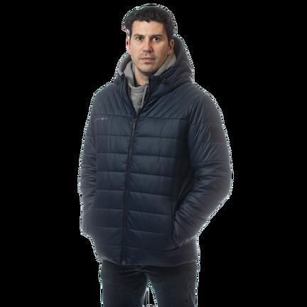 SUPREME Hooded Puffer Jacket,Marinblå,medium