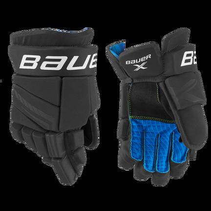 BAUER X Glove Junior,Schwarz/weiß,Medium