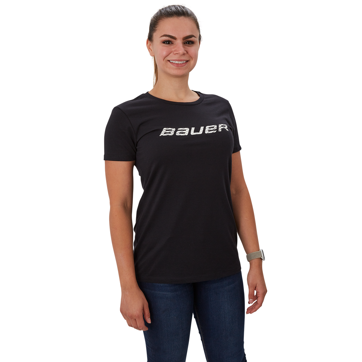 Short Sleeve Women's T-Shirt with Graphic,Schwarz,Medium