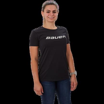 Short Sleeve Women's T-Shirt with Graphic,Black,medium
