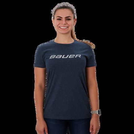 Short Sleeve Women's T-Shirt with Graphic,Marinblå,medium