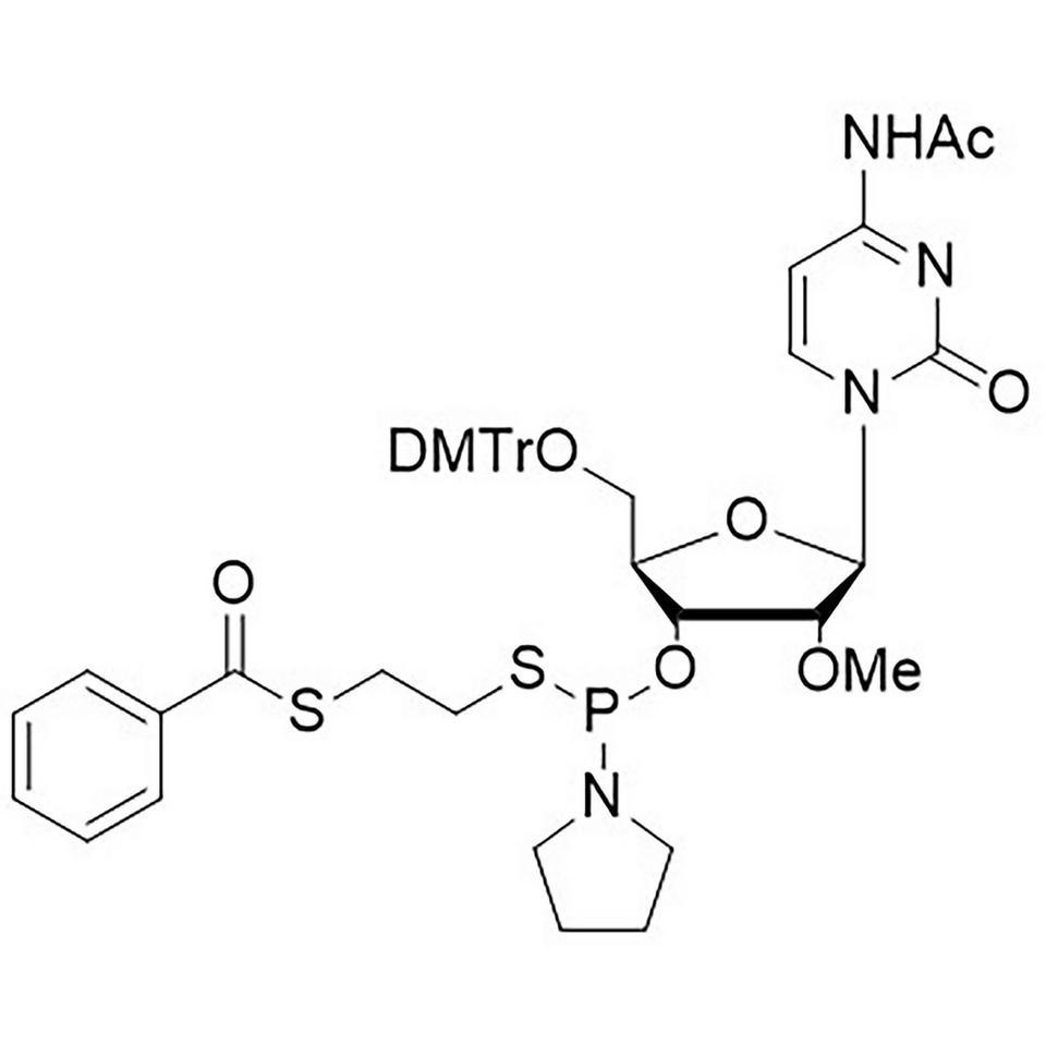 2'-OMe-C(Ac)-Thiophosphoramidite, BULK (g), HDPE Screw-Top