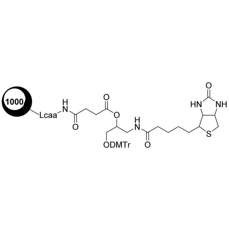 DMT-C3(Biotin)-Suc-CPG (O-DMT-N-biotinyl-3-aminopropan-1,2-diol-Suc-CPG)
