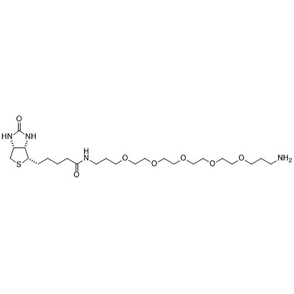 N1-D-(+)-Biotinyl-1,19-diamino-4,7,10,13,16-pentaoxanonadecane, 50 mg, Glass Screw-Top