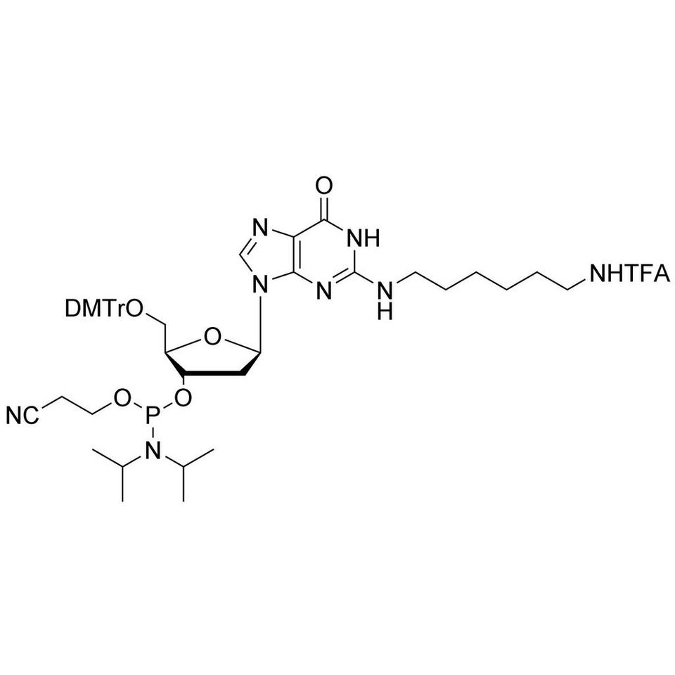 N2-Amino Modifier C6-dG CE-Phosphoramidite, BULK (g), Glass Screw-Top