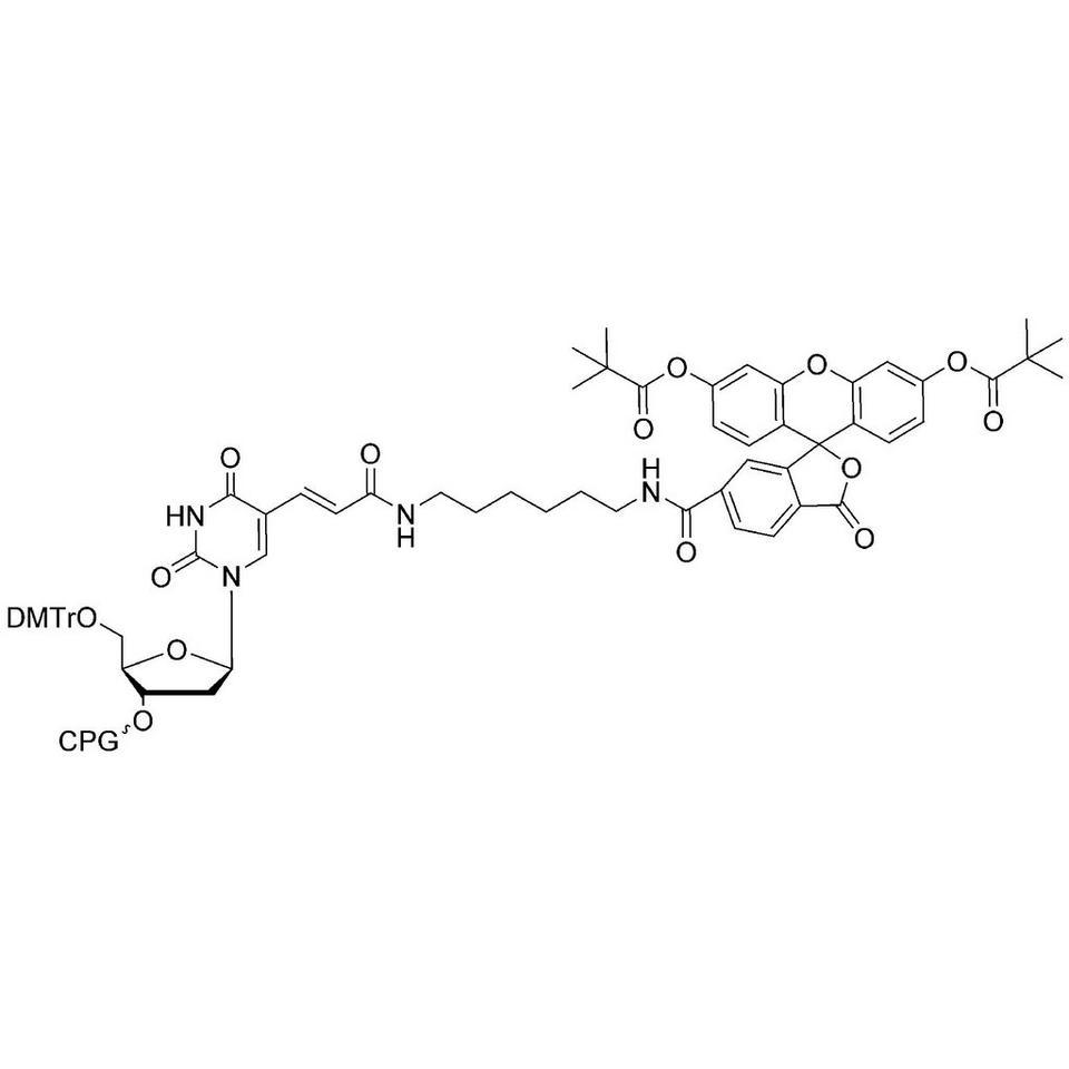 3'-Fluorescein-dT CPG, 1000 Å, Standard Loading, BULK (g)