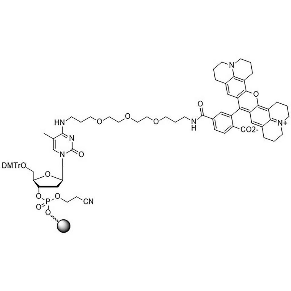ROX-Phos-CPG (5'-DMT-mdC(TEG-ROX)-Phos-CPG)