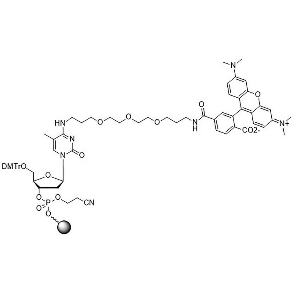 TAMRA-Phos-CPG, 6-Carboxy Single Isomer (5'-DMT-mdC(TEG-TAMRA)-Phos-CPG)