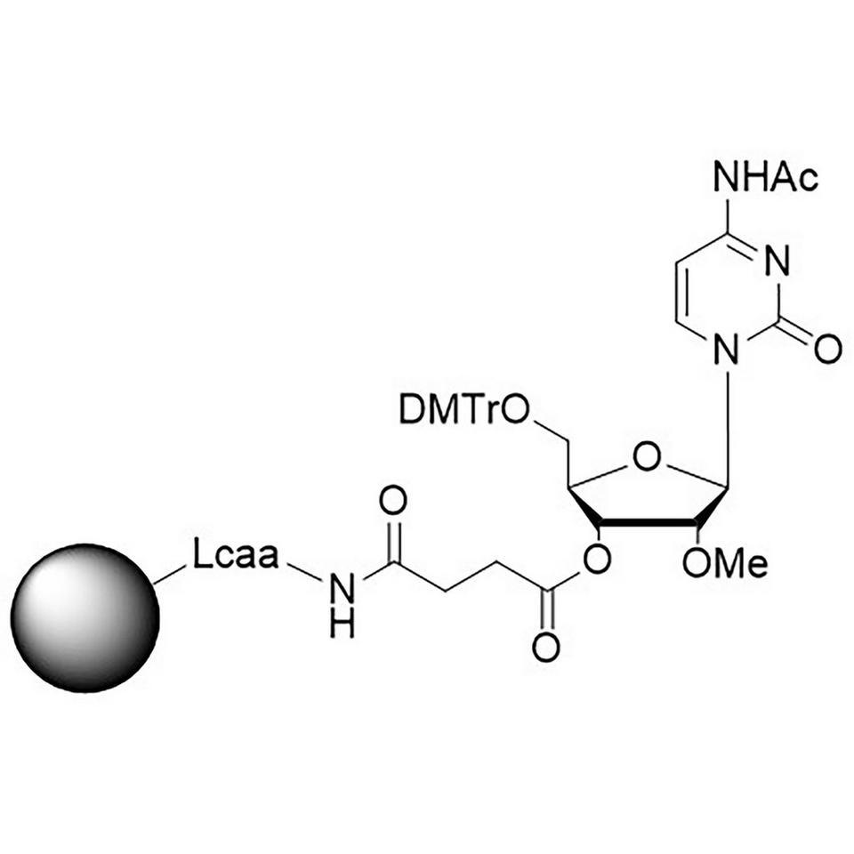 rC (Ac), 2'-OMe CNA CPG Low Bulk Density
