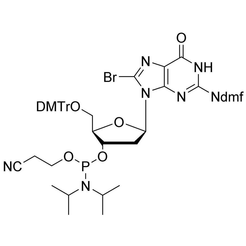 8-Br-dG (dmf) CE-Phosphoramidite, BULK (g), Glass Screw-Top