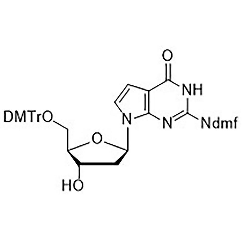 5'-O-(Dimethoxytrityl)-N2-(dimethylaminomethylidene)-7-deaza-2'-deoxyguanosine