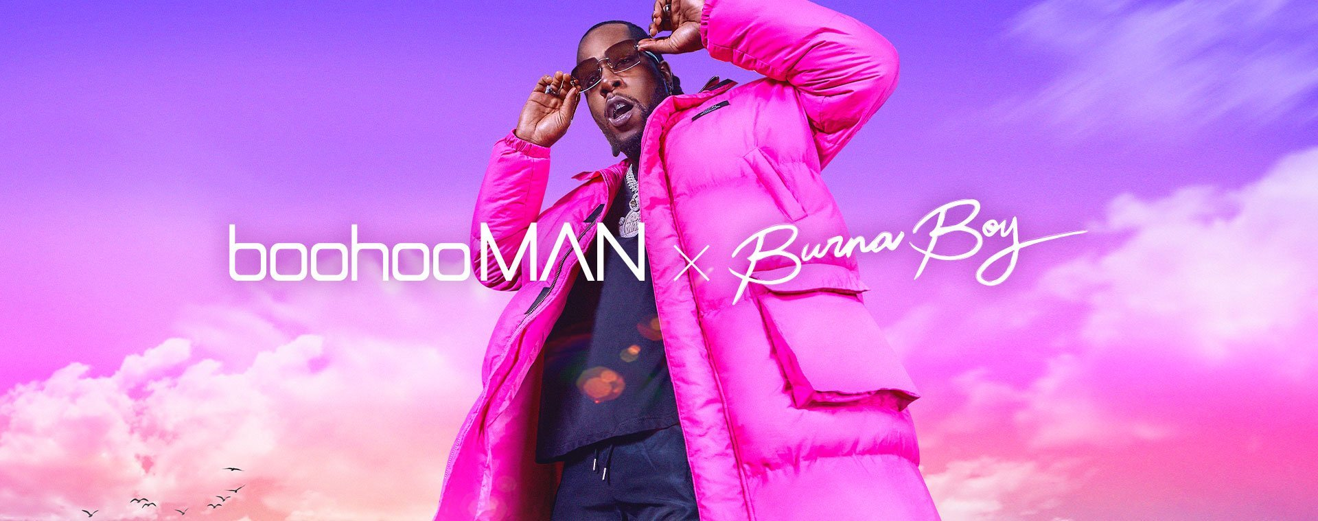 boohooMAN x Burna Boy