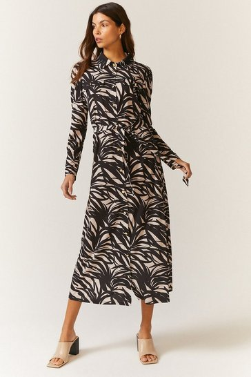 Mono Printed Jersey Shirt Dress
