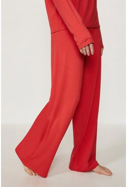 Red Loungewear Wide Leg