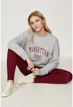 Wine Manhattan Colour Block Legging Set