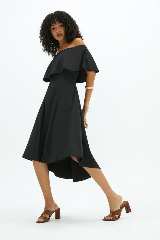 Black Brooke Bardot Dress