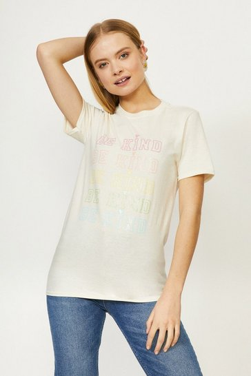 Natural Be Kind Pastel Rainbow T-shirt