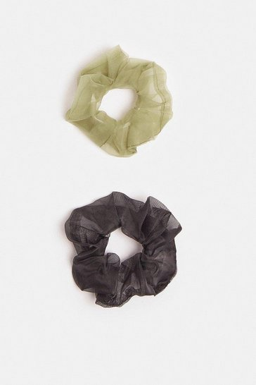 Multi Organza Scrunchie 2 Pack