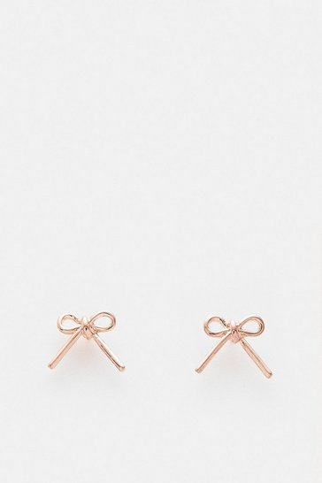 Rose gold Bow Stud Earrings