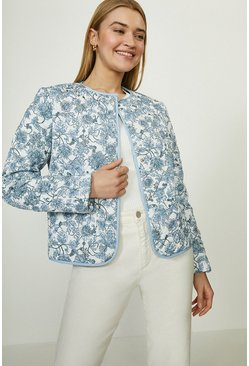 Multi Printed Quilted Liner Jacket