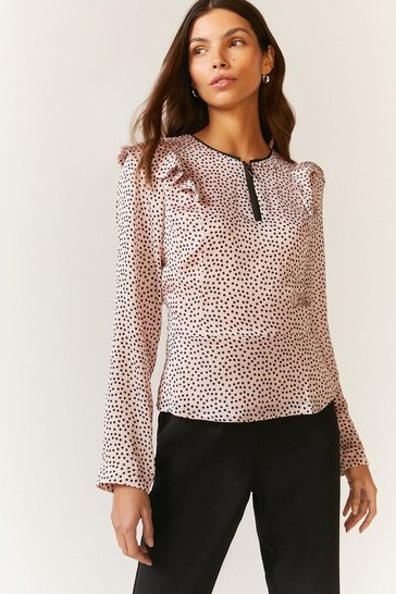 Pink Zip Through Blouse