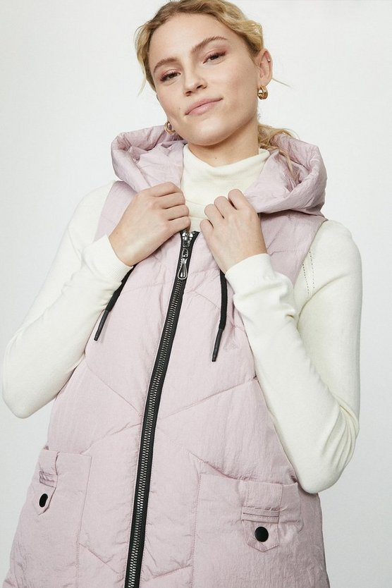 Blush Quilted Midi Gillet