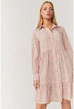 Blush Smock Shirt Dress