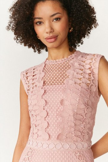 Blush Lace Mix And Match Mini Dress