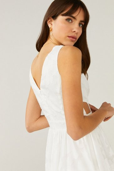 Ivory Cut Out Sundress