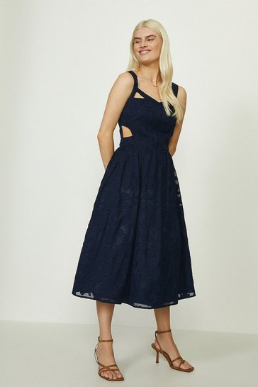 Navy Cut Out Sundress