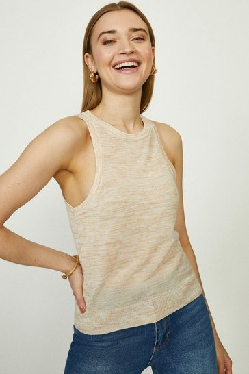 Oatmeal Knitted Crew Tank