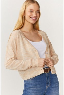 Oatmeal Cropped Cardigan