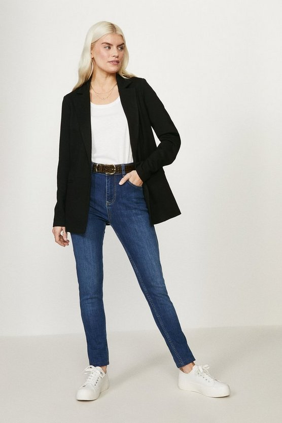Black Lined Ponte Blazer