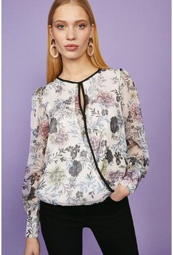 Blush Key Hole Blouse