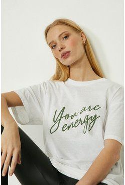 White You Are Energy Sports T-shirt