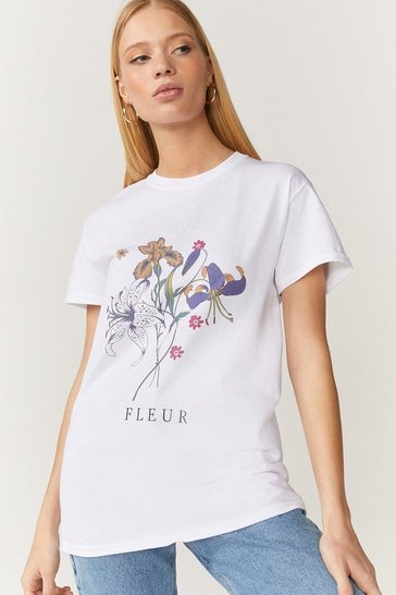White Flower Bouquet T Shirt