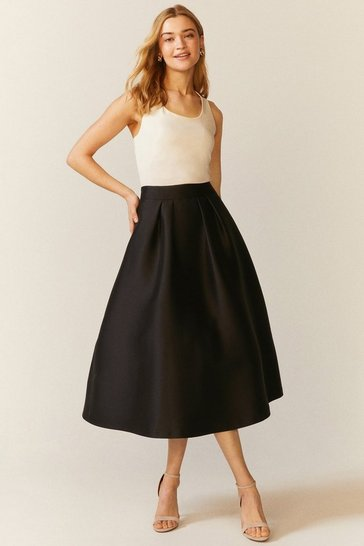 Black Meslita Full Skirt