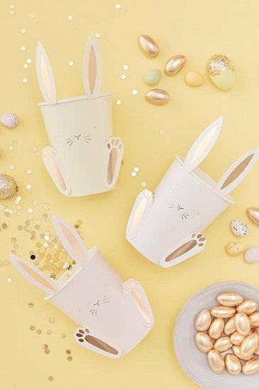 White Ginger Ray Easter Bunny Paper Cups