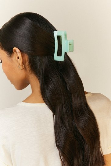 Mint Square Hair Clip
