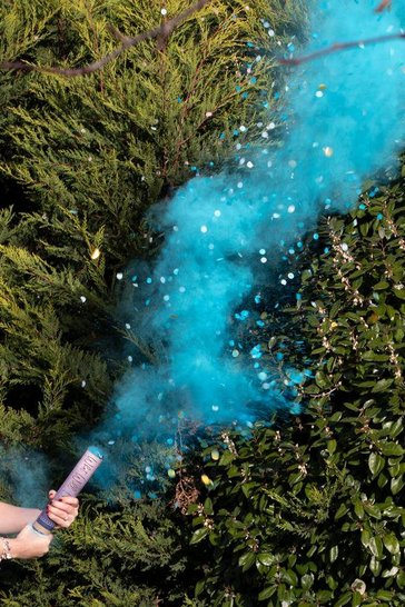 Blue Ginger Ray Gender Reveal Smoke Cannon