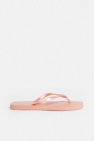 Rose gold Basic Flip Flops