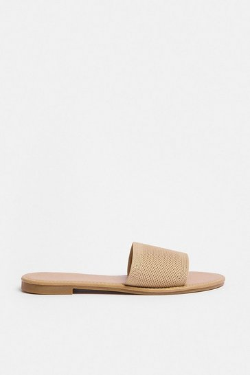 Mocha Single Strap Low Heel Sandal