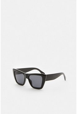 Black Cat Eye Square Sunglasses