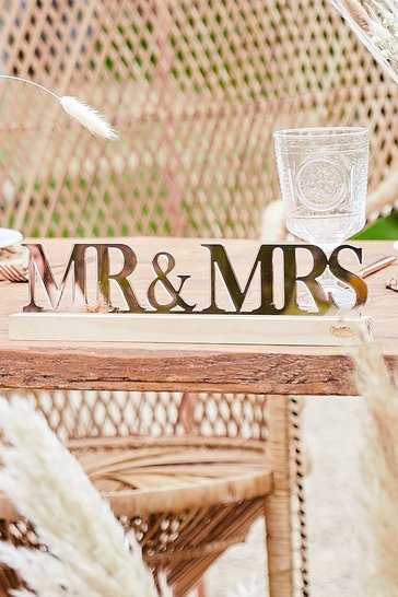Rose gold Ginger Ray Mr & Mrs Table Decoration