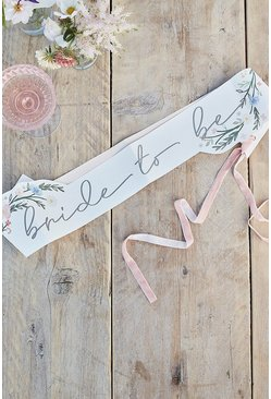 Multi Ginger Ray Floral Bride To Be Sash