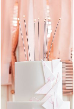 Ginger Ray 12 Rose Gold Tall Candles