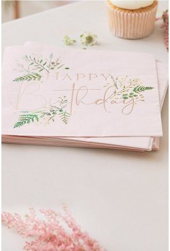 Rose gold Ginger Ray 16 Happy Birthday Napkins